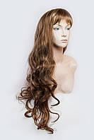 Длинный волнистый парик № 1,цвет мелирование светло-русый с карамелью