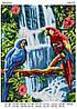 Схема для вышивки бисером Пара попугаев