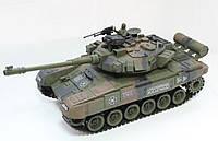 """Танк военный для мальчишек, легендарный Т-90 """"Household"""" 4101, управляется пультом, подвижная стреляющая пушка"""