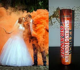 """Димова шашка Maxem """"Smoking Fountan"""" помаранчевий колір 60 секунд яскравого диму!"""