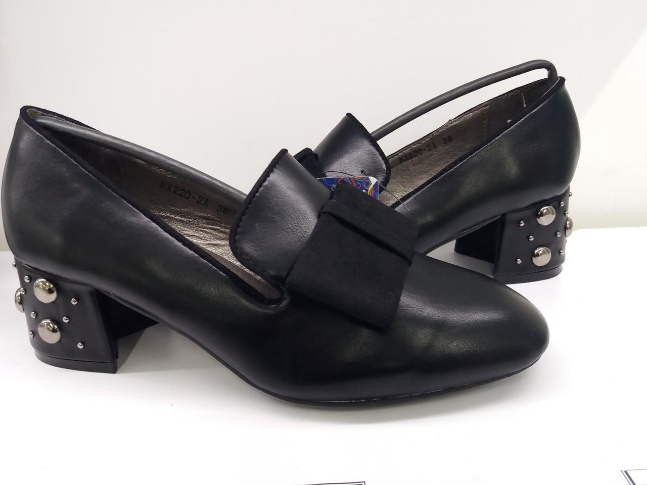 75c59ae2a Стильные женские туфли-лоферы.Натуральная кожа Весна лето.Черный цвет.  Каблучок 6