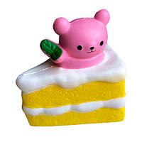 Мягкая игрушка антистресс Сквиши Squishy Тортик с Мишкой