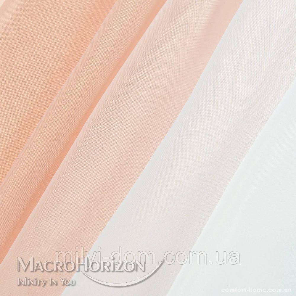 Комплект Готового Тюля Вуаль Degrade Пудра, арт. MG-107310, Тесьма-Органза 6 см, Деграде/Омбре, 275*300 см