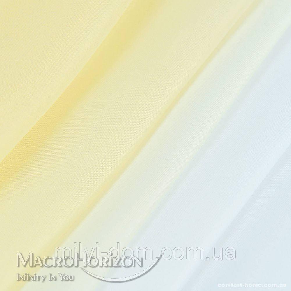 Комплект Готового Тюля Вуаль Degrade Ваниль, арт. MG-96896, Тесьма-Органза 6 см, Деграде/Омбре, 275*300 см