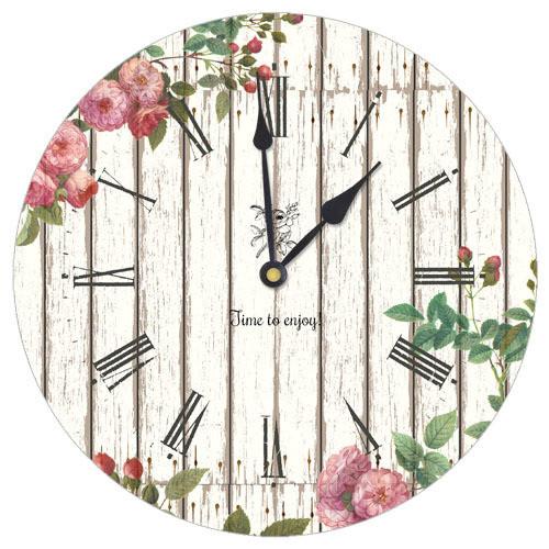 Часы настенные круглые Цветы 36 см (CHR_K_15M015)
