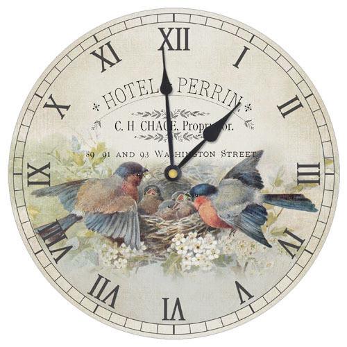 Часы настенные круглые Птички 36 см (CHR_K_15M029)