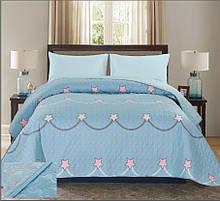Покривало стьобане блакитного кольору ТМ Bliss 160х220 см