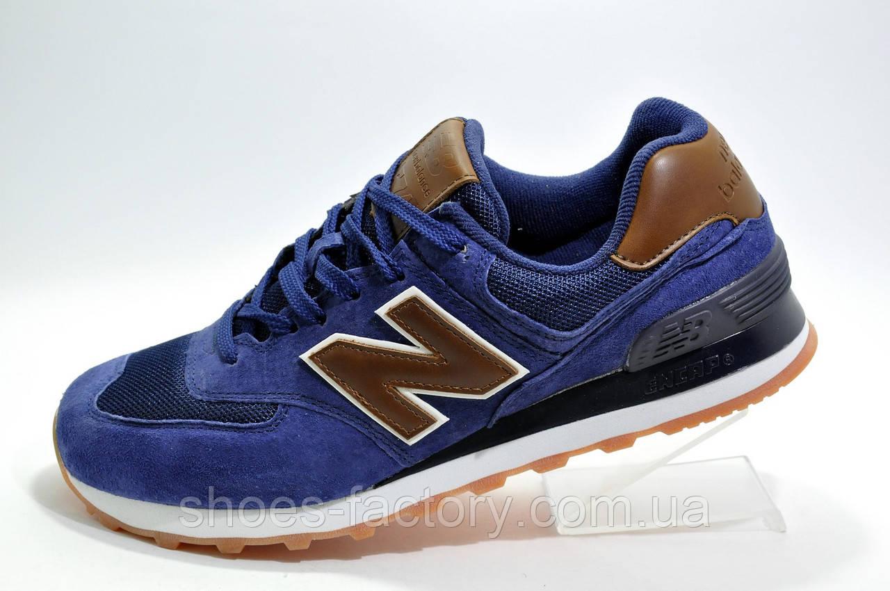 best cheap f8ae2 21979 Мужские кроссовки в стиле New Balance 574 Classic, Blue\Brown