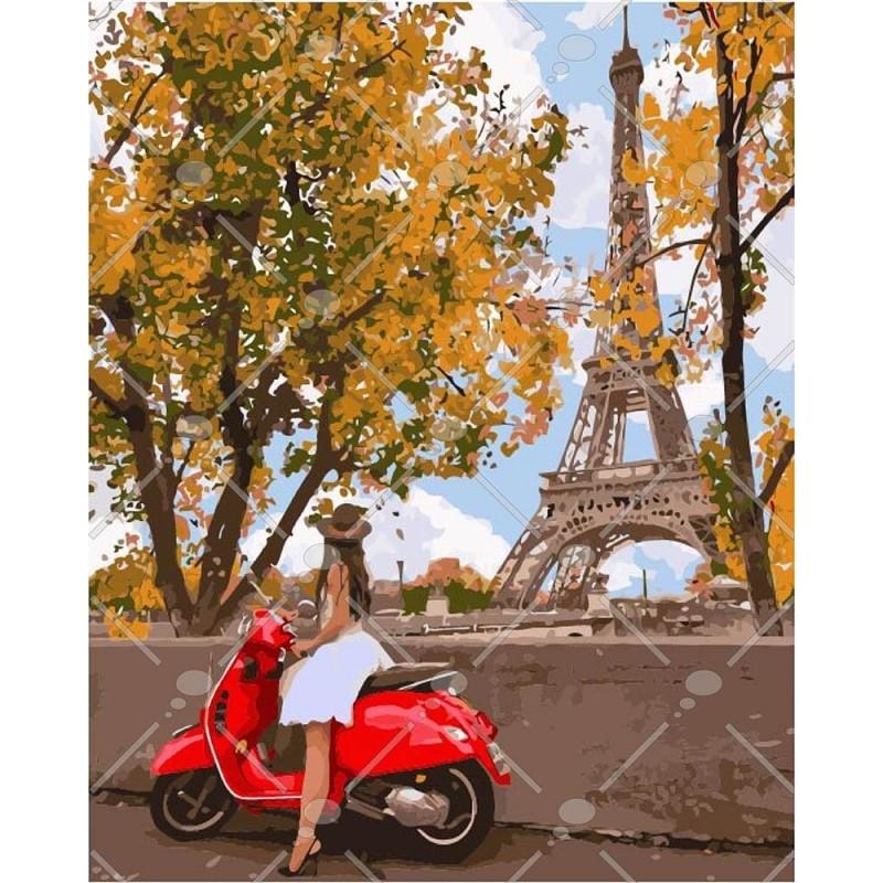 Картина по номерам Впервые в Париже 40 х 50 см (KHO4581)