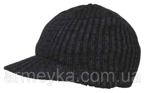 Зимняя шапка акриловая с козырьком,Arctic, серая