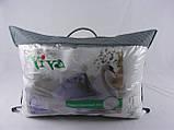 """Подушка VIVA """"Лебедь"""" 50х70, тик белый, вышивка, искусственный пух, фото 3"""