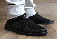 Мокасини чоловічі літні сітка в стилі adidas (Бл-30а)