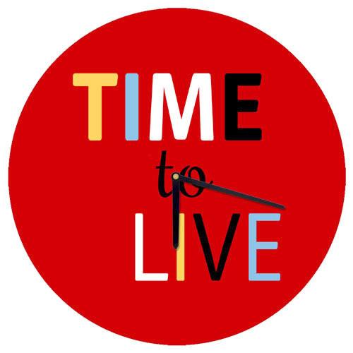 Часы настенные круглые Time to live 36 см (CHR_O_15M006)