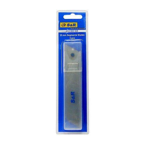 Лезвия для ножей 25 мм сегментные S&R (432005025) 5 шт.