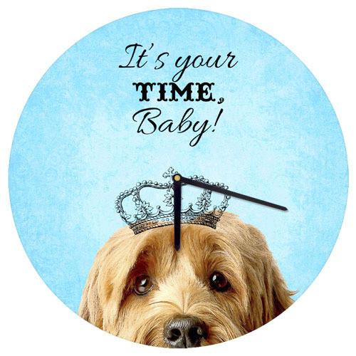 Часы настенные круглые It`s your time baby! 36 см (CHR_O_15M088)