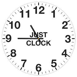 Годинники настінні круглі, 36 см Just clock (CHR_P_15M043)