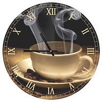 Часы настенные круглые, 36 см Coffee (CHR_P_15M046)