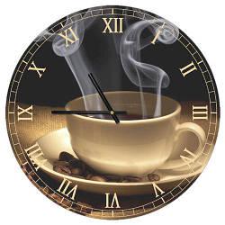 Годинники настінні круглі, 36 см Coffee (CHR_P_15M046)