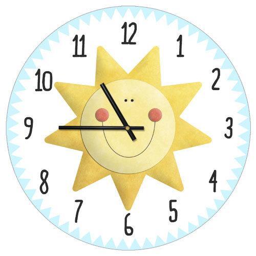 Часы настенные круглые Солнце 36 см (CHR_P_18M001)