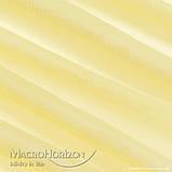 Тюль Вуаль Жовтий, арт. MG-67014, Тасьма-Органза 6 см, Однотонний, 290*300 см, фото 2