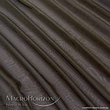 Комплект Готового Тюля Вуаль Тёмно-Коричневый, арт. MG-83476, Тесьма-Органза 6 см, Однотонный, 290*300 см, фото 2