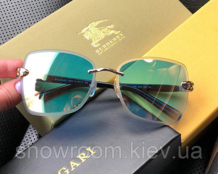 Женские безоправные солнцезащитные очки (6103) blue Lux