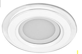 Встраиваемый светодиодный светильник Feron AL2110 6W (со стеклом) тёплый свет 2700К