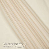 Комплект Готового Тюля Вуаль Бежево-Золотистый, арт. MG-146353, Тесьма-Органза 6 см, Однотонный, 290*400 см, фото 2