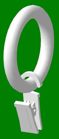 Кольцо с зажимом на трубу 28мм