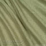 Комплект Готового Тюля Лён Зеленая Оливка, арт. MG-TL-129775, Тесьма-Органза 6 см, Однотонный, 290*200 см, фото 2