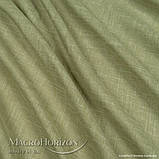 Комплект Готового Тюля Лён Зеленая Оливка, арт. MG-TL-129775, Тесьма-Органза 6 см, Однотонный, 290*400 см, фото 2