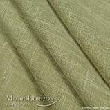 Комплект Готового Тюля Лён Зеленая Оливка, арт. MG-TL-129775, Тесьма-Органза 6 см, Однотонный, 290*400 см, фото 3