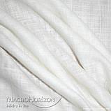Комплект Готового Тюля Лён Молочный крем, арт. MG-TL-109193, Тесьма-Органза 6 см, Однотонный, 290*500 см, фото 2