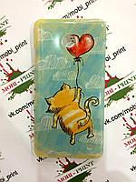Чехол для Nokia Lumia 630 (Котик с шариком)