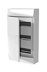 Mistral IP41 шкаф накладной, 36 (3х12) модулей,  непрозрачная дверь