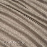 Комплект Готового Тюля Лён Тёмный Песок, арт. MG-TL-129770, Тесьма-Органза 6 см, Однотонный, 290*150 см, фото 3