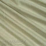 Комплект Готового Тюля Лён Оливка, арт. MG-TL-129776, Тесьма-Органза 6 см, Однотонный, 290*200 см, фото 3