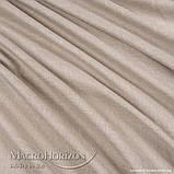 Комплект Готового Тюля Лён Песок, арт. MG-TL-129779, Тесьма-Органза 6 см, Однотонный, 290*300 см, фото 2