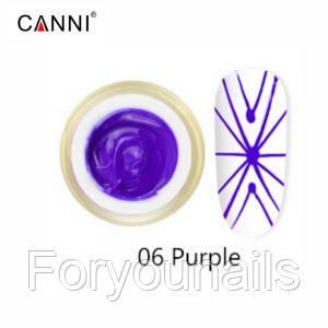 Гель-паутинка №6, сиреневый | 3D Embossing gel