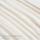Тюль Льон Світлий Беж, арт. MG-TL-129782, Тасьма-Органза 6 см, Однотонний, 290*200 см, фото 2