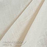 Тюль Льон Світлий Беж, арт. MG-TL-129782, Тасьма-Органза 6 см, Однотонний, 290*200 см, фото 3