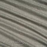 Комплект Готового Тюля Лён Оливково-Серый, арт. MG-TL-129783, Тесьма-Органза 6 см, Однотонный, 290*150 см, фото 2