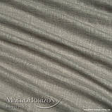 Комплект Готового Тюля Лён Оливково-Серый, арт. MG-TL-129783, Тесьма-Органза 6 см, Однотонный, 290*400 см, фото 2