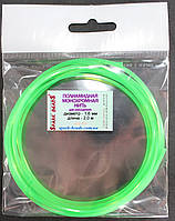Полиамидная монохромная нить. Цвет - зеленый. Ø 1,6 мм, длина 2м. Сечение - квадрат