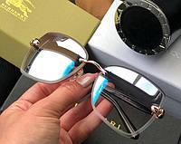 Женские безоправные солнцезащитные очки Bvlgari (6103) grey mirror Lux, фото 1