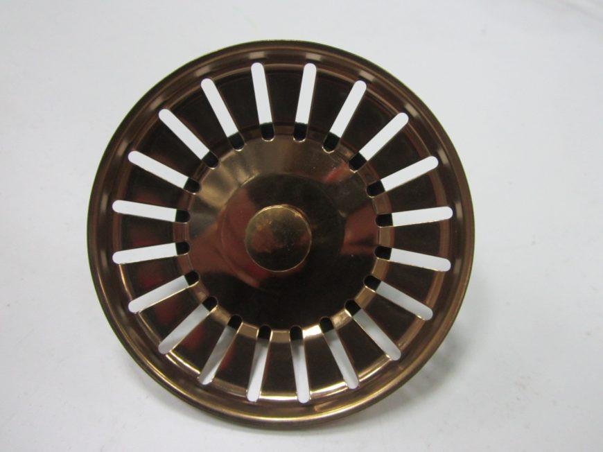 Сетка  (пробка, мусоросборник) 83 мм красное золото Италия