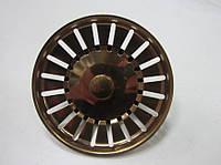 Сетка  (пробка, мусоросборник) 83 мм красное золото Италия, фото 1