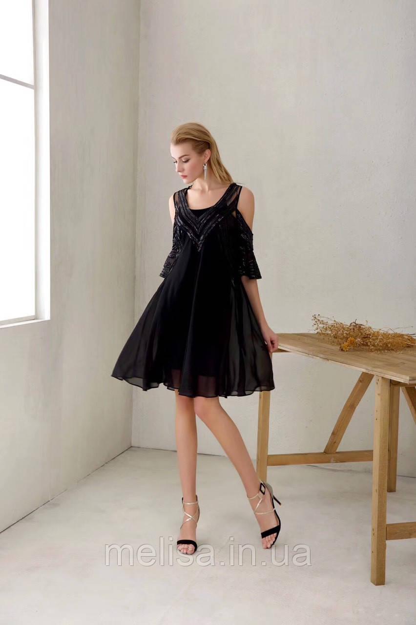 c82fc2ec001 Черное Платье с Открытыми Плечами Amodediosa — в Категории