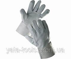 Перчатки-краги серые короткие
