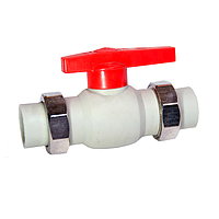 Кран шаровый PPR 2-х сторон разб 32 32/2 GRE Aqua Pipe